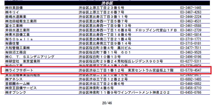 東京都水道局指定工事店 ライフサポート